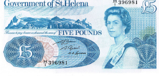 P 7b St Helena 5 Pounds Year nd