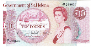 P 8b St Helena 10 Pounds Year nd