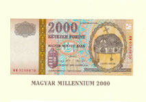 P186 Hungary 2000 Florint Year 2000 (in folder)