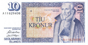 P48 Iceland 10 Kronur year nd