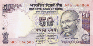 P 97 India 50 Rupees Year 2009