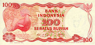 P122 Indonesia 100 Ruphia Year 1984
