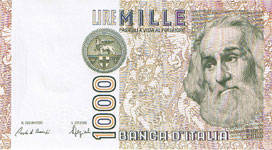 P109a Italy 1000 Lire Year 1982