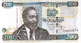P49 Kenya 200 Shillings year 2010