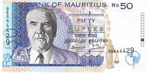 P43 Mauritius 50 Rupees Year 1998