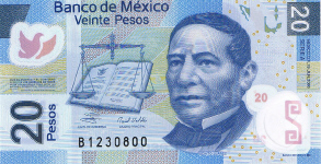 P122 Mexico 20 Pesos Year 2012