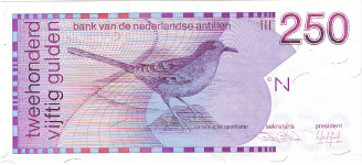P27 Netherlands Antilles 250 Gulden Year 1986