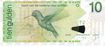 P28d Netherlands Antilles 10 Gulden Year 2006