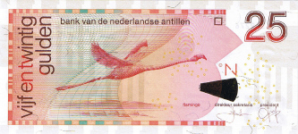 P29d/e Netherlands Antilles 25 Gulden Year 2006/08