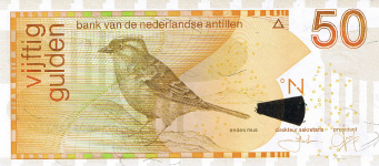 P30d Netherlands Antilles 50 Gulden Year 2006