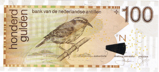P31d/e Netherlands Antilles 100 Gulden Year 2006/08