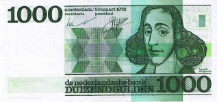P 94 Netherlands 1000 Gulden Year 1971