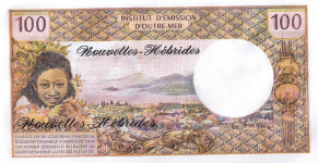 P19c New Hebrides 1000 Francs