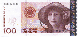 P49 Norway 100 Kronur Year 2006