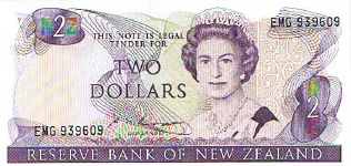P170b New Zealand 2 Dollar Year nd