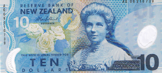 P186b New Zealand 10 Dollars year 2006