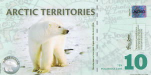 New Arctic Territories (Norway) 10 Dollars year 2010