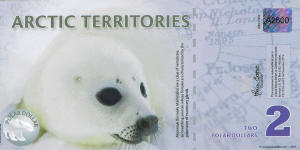New Arctic Territories (Norway) 2 Dollars year 2010