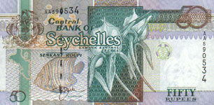 P38 Seychelles 50 Rupees Year nd