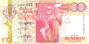 P39 Seychelles 100 Rupees Year nd