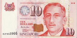 P40 Singapore 10 Dollar year nd V