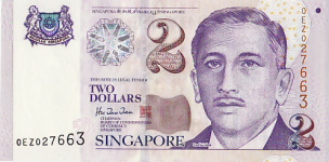 P45A Singapore 2 Dollar year nd