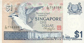 P 9 Singapore 1 Dollar Year nd