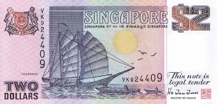 P34 Singapore 2 Dollar Year nd