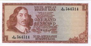 P109b South Africa 1 Rand year nd