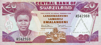 P17 Swaziland 20 Emalangeli Year nd