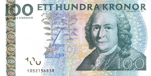 P65a Sweden 100 Kronur year 2001