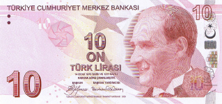 P223 Turkey 10 Lira year 2009
