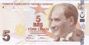 P222 Turkey 5 Lira year 2009