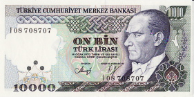 P200 Turkey 10.000 Lira Year nd