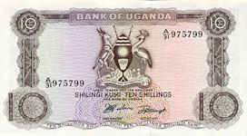 P 2 Uganda 10 Shillings Year nd