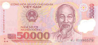 P121c Vietnam 50.000 Dong Year nd Polymer2005