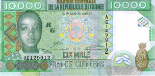 P45 Guinea 10.000 Francs Year 2010